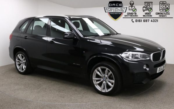 Used 2014 BLACK BMW X5 4x4 3.0 XDRIVE30D M SPORT 5d AUTO 255 BHP (reg. 2014-04-24) for sale in Manchester