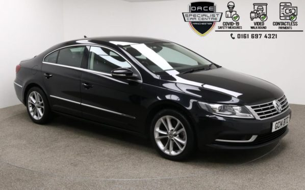 Used 2014 BLACK VOLKSWAGEN CC Coupe 2.0 TDI BLUEMOTION TECHNOLOGY DSG 4d 138 BHP (reg. 2014-08-01) for sale in Manchester