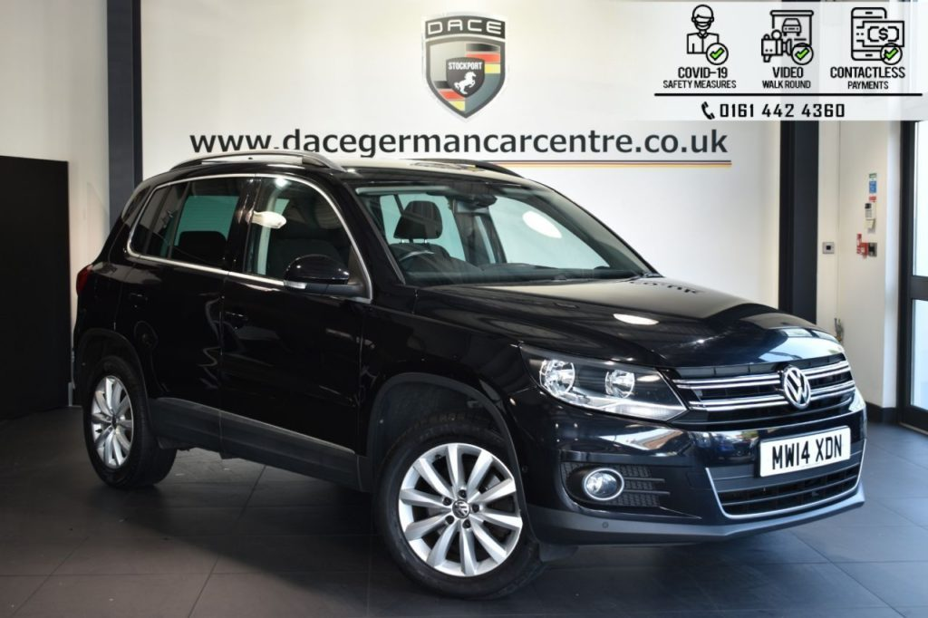 Used 2014 BLACK VOLKSWAGEN TIGUAN Estate 2.0 MATCH TDI BLUEMOTION TECH NAV 4MOTION DSG 5d AUTO 139 BHP (reg. 2014-07-18) for sale in Bolton