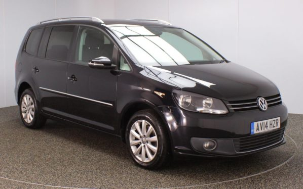 Used 2014 BLACK VOLKSWAGEN TOURAN MPV 2.0 SPORT TDI BLUEMOTION TECHNOLOGY DSG 5DR AUTO 138 BHP (reg. 2014-04-22) for sale in Stockport