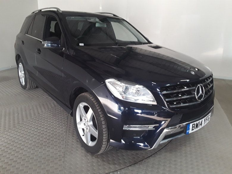 Used 2014 BLUE MERCEDES-BENZ M-CLASS Estate 2.1 ML250 BLUETEC AMG SPORT 5d AUTO 204 BHP (reg. 2014-07-31) for sale in Manchester