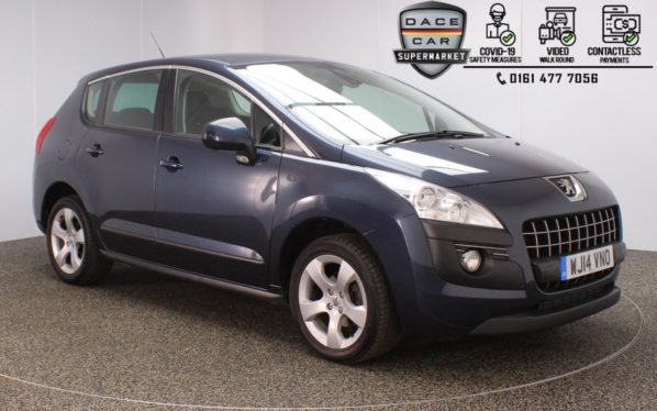 Used 2014 BLUE PEUGEOT 3008 Hatchback 1.6 E-HDI ACTIVE 5DR 115 BHP (reg. 2014-03-24) for sale in Stockport