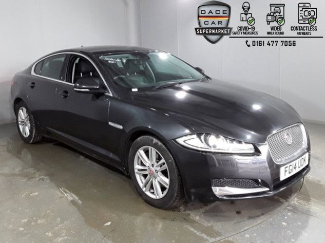 Used 2014 GREY JAGUAR XF Saloon 2.2 D LUXURY 4DR AUTO 200 BHP (reg. 2014-06-27) for sale in Stockport