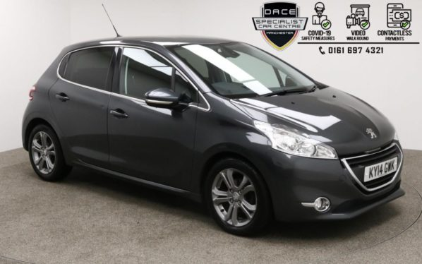 Used 2014 GREY PEUGEOT 208 Hatchback 1.6 E-HDI ALLURE 5d 92 BHP (reg. 2014-03-01) for sale in Manchester