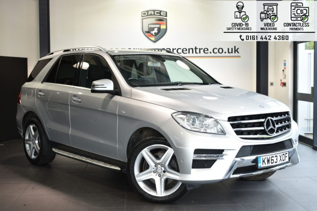 Used 2014 SILVER MERCEDES-BENZ M-CLASS Estate 2.1 ML250 BLUETEC AMG SPORT 5DR AUTO 204 BHP (reg. 2014-02-13) for sale in Bolton
