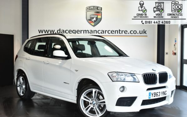 Used 2014 WHITE BMW X3 Estate 2.0 XDRIVE20D M SPORT 5DR AUTO 181 BHP (reg. 2014-01-17) for sale in Bolton