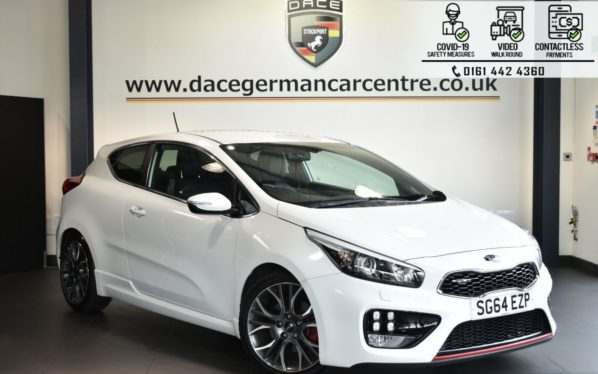 Used 2014 WHITE KIA PRO CEED Hatchback 1.6 PRO CEED GT TECH 3DR 201 BHP (reg. 2014-09-29) for sale in Bolton