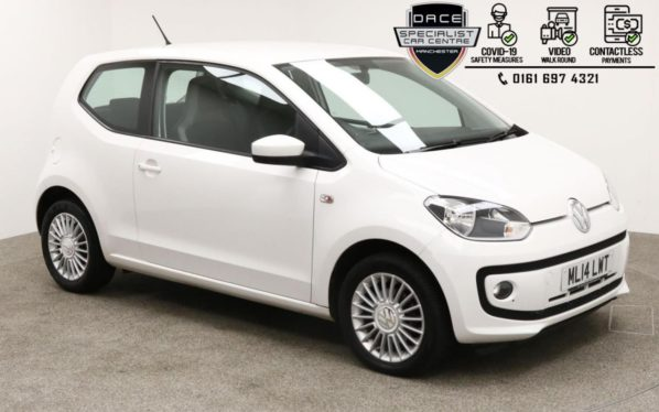Used 2014 WHITE VOLKSWAGEN UP Hatchback 1.0 HIGH UP 3d 74 BHP (reg. 2014-03-28) for sale in Manchester