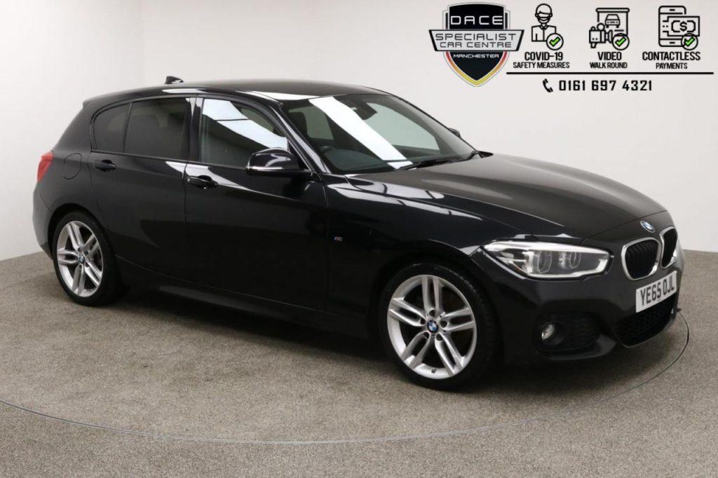 Used 2015 BLACK BMW 1 SERIES Hatchback 2.0 125I M SPORT 5d 215 BHP (reg. 2015-10-26) for sale in Manchester