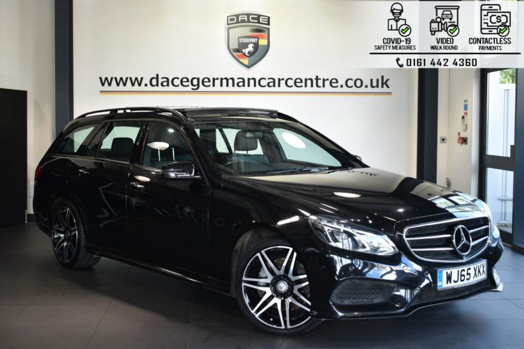 Used 2015 BLACK MERCEDES-BENZ E-CLASS Estate 3.0 E350 BLUETEC AMG NIGHT ED PREMIUM PLUS 5DR AUTO 255 BHP (reg. 2015-09-18) for sale in Bolton