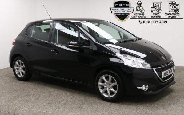 Used 2015 BLACK PEUGEOT 208 Hatchback 1.4 HDI ACTIVE 5d 68 BHP (reg. 2015-03-23) for sale in Manchester