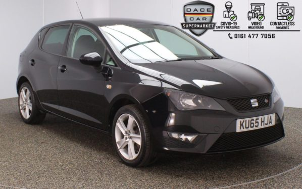 Used 2015 BLACK SEAT IBIZA Hatchback 1.4 TSI ACT FR BLACK 5DR 140 BHP (reg. 2015-09-01) for sale in Stockport
