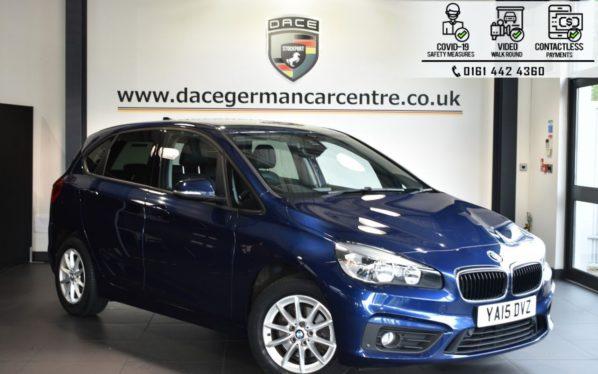Used 2015 BLUE BMW 2 SERIES ACTIVE TOURER Hatchback 2.0 218D SE 5DR AUTO 148 BHP (reg. 2015-07-08) for sale in Bolton