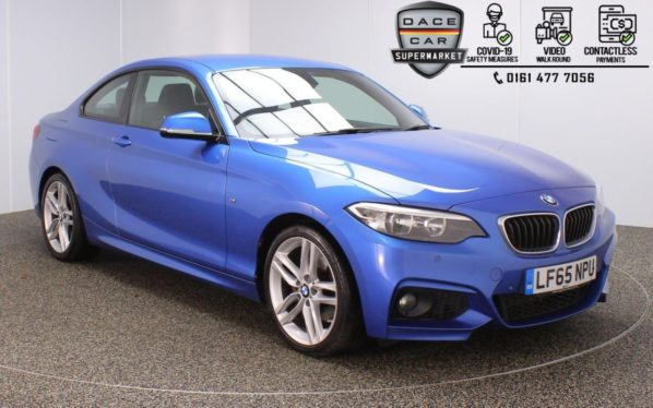 Used 2015 BLUE BMW 2 SERIES Coupe 2.0 220D M SPORT 2DR 1 OWNER AUTO 188 BHP (reg. 2015-09-25) for sale in Stockport