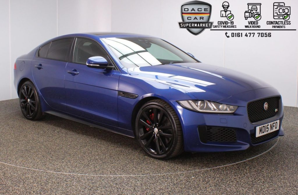 Used 2015 BLUE JAGUAR XE Saloon 3.0 S 4DR 1 OWNER AUTO 335 BHP (reg. 2015-07-31) for sale in Stockport