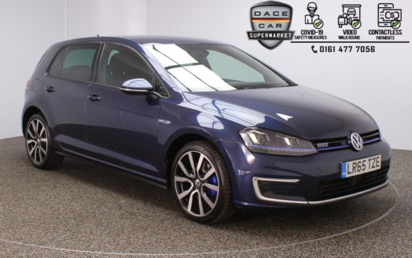 Used 2015 BLUE VOLKSWAGEN GOLF Hatchback 1.4 GTE 5DR AUTO 150 BHP (reg. 2015-10-12) for sale in Stockport