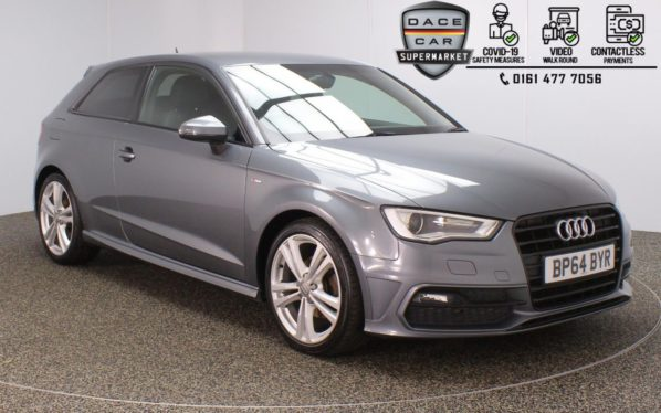 Used 2015 GREY AUDI A3 Hatchback 1.6 TDI S LINE 3DR 109 BHP (reg. 2015-02-04) for sale in Stockport