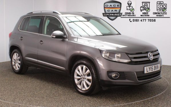 Used 2015 GREY VOLKSWAGEN TIGUAN Estate 2.0 MATCH TDI BLUEMOTION TECHNOLOGY 5DR 1 OWNER 139 BHP (reg. 2015-05-29) for sale in Stockport
