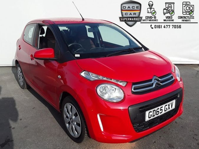 Used 2015 RED CITROEN C1 Hatchback 1.0 FEEL 5DR 68 BHP (reg. 2015-11-28) for sale in Stockport