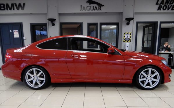 Used 2015 RED MERCEDES-BENZ C-CLASS Coupe 2.1 C220 CDI AMG SPORT EDITION PREMIUM 2d 168 BHP (reg. 2015-06-30) for sale in Hazel Grove