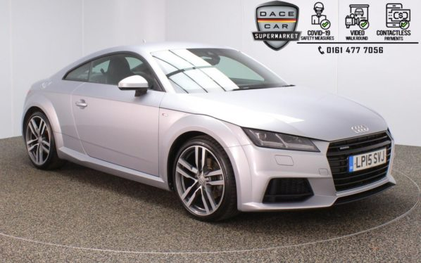 Used 2015 SILVER AUDI TT Coupe 2.0 TFSI QUATTRO S LINE 2DR 1 OWNER AUTO 227 BHP (reg. 2015-06-16) for sale in Stockport