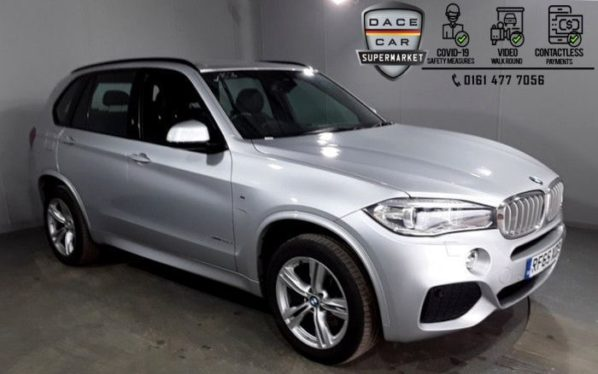 Used 2015 SILVER BMW X5 4x4 3.0 XDRIVE40D M SPORT 5DR 1 OWNER AUTO 309 BHP (reg. 2015-12-14) for sale in Stockport