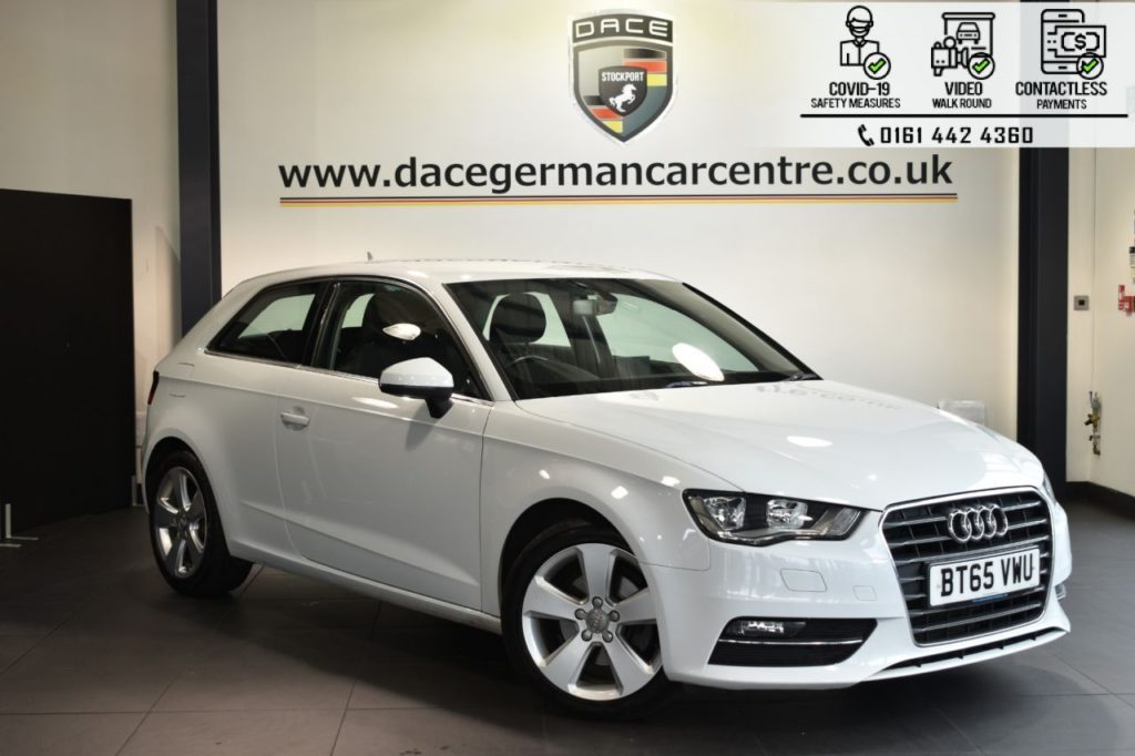 Used 2015 WHITE AUDI A3 Hatchback 1.4 TFSI SPORT 3DR 148 BHP (reg. 2015-12-21) for sale in Bolton