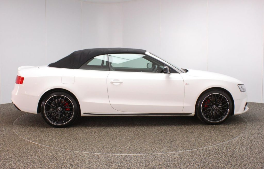 Used 2015 WHITE AUDI A5 Convertible 2.0 TDI S LINE SPECIAL ...