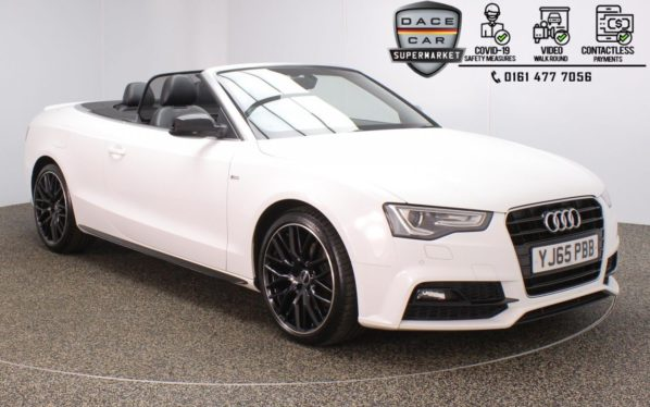 Used 2015 WHITE AUDI A5 Convertible 2.0 TDI S LINE SPECIAL EDITION PLUS 2DR 187 BHP (reg. 2015-12-30) for sale in Stockport