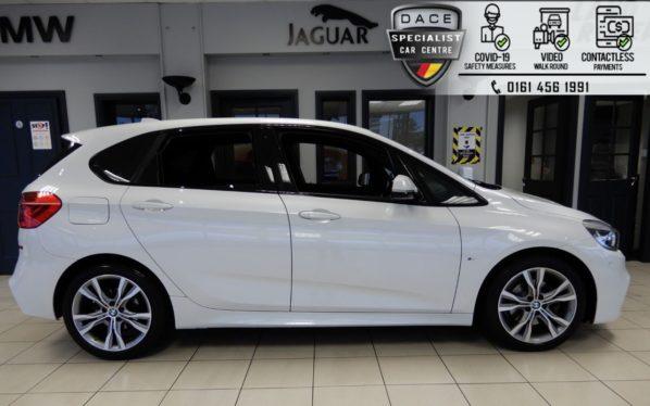 Used 2015 WHITE BMW 2 SERIES Hatchback 2.0 220D XDRIVE M SPORT ACTIVE TOURER 5d 188 BHP (reg. 2015-12-23) for sale in Hazel Grove