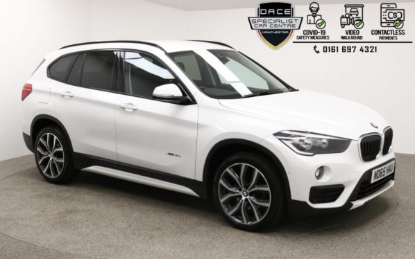 Used 2015 WHITE BMW X1 Estate 2.0 SDRIVE18D SPORT 5d AUTO 148 BHP (reg. 2015-12-23) for sale in Manchester