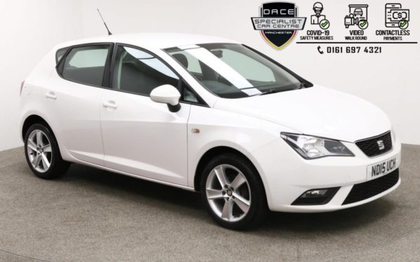 Used 2015 WHITE SEAT IBIZA Hatchback 1.4 TOCA 5d 85 BHP (reg. 2015-06-24) for sale in Manchester