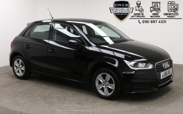 Used 2016 BLACK AUDI A1 Hatchback 1.6 SPORTBACK TDI SE 5d AUTO 114 BHP (reg. 2016-10-20) for sale in Manchester