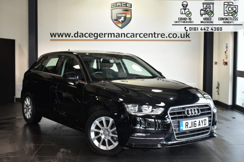 Used 2016 BLACK AUDI A3 Hatchback 1.4 TFSI SE 5DR AUTO 148 BHP (reg. 2016-05-31) for sale in Bolton