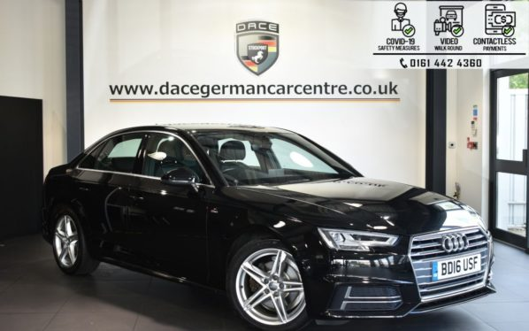 Used 2016 BLACK AUDI A4 Saloon 2.0 TFSI S LINE 4DR AUTO 188 BHP (reg. 2016-05-06) for sale in Bolton