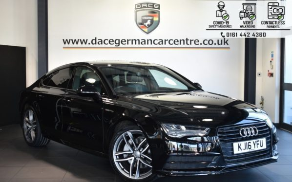 Used 2016 BLACK AUDI A7 Hatchback 3.0 SPORTBACK TDI ULTRA S LINE 5DR AUTO 215 BHP (reg. 2016-08-19) for sale in Bolton