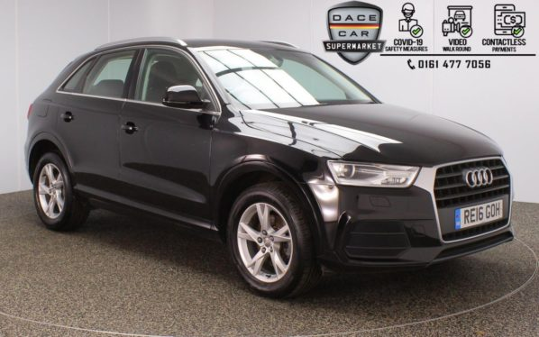 Used 2016 BLACK AUDI Q3 Estate 2.0 TDI SE 5DR 1 OWNER 148 BHP (reg. 2016-04-29) for sale in Stockport