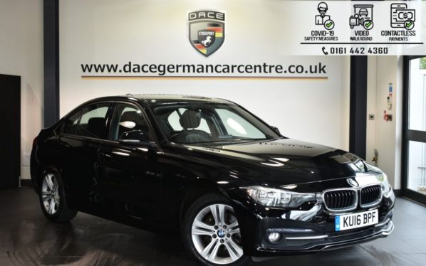 Used 2016 BLACK BMW 3 SERIES Saloon 1.5 318I SPORT 4DR 135 BHP (reg. 2016-04-28) for sale in Bolton