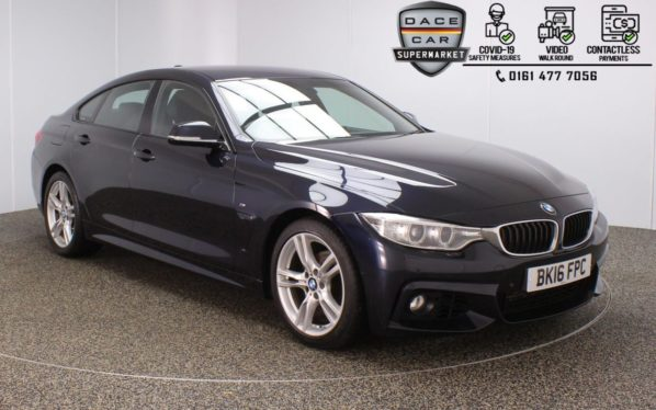 Used 2016 BLACK BMW 4 SERIES GRAN COUPE Coupe 2.0 418D M SPORT GRAN COUPE 4DR 1 OWNER AUTO 148 BHP (reg. 2016-03-23) for sale in Stockport