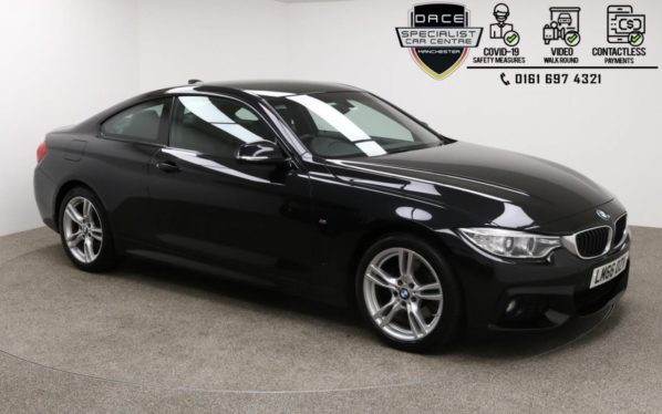 Used 2016 BLACK BMW 4 SERIES Coupe 2.0 430I M SPORT 2DR 1 OWNER 248 BHP (reg. 2016-12-08) for sale in Manchester