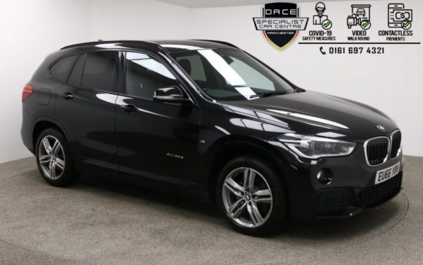 Used 2016 BLACK BMW X1 Estate 2.0 XDRIVE25D M SPORT 5d AUTO 228 BHP (reg. 2016-09-08) for sale in Manchester