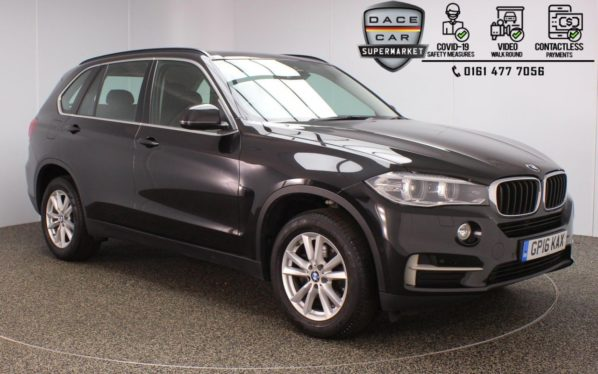 Used 2016 BLACK BMW X5 4x4 2.0 SDRIVE25D SE 5DR 1 OWNER AUTO 231 BHP (reg. 2016-08-12) for sale in Stockport