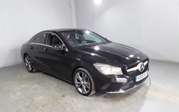 Used 2016 BLACK MERCEDES-BENZ CLA Coupe 2.1 CLA 200 D SPORT 4d 134 BHP (reg. 2016-08-05) for sale in Manchester