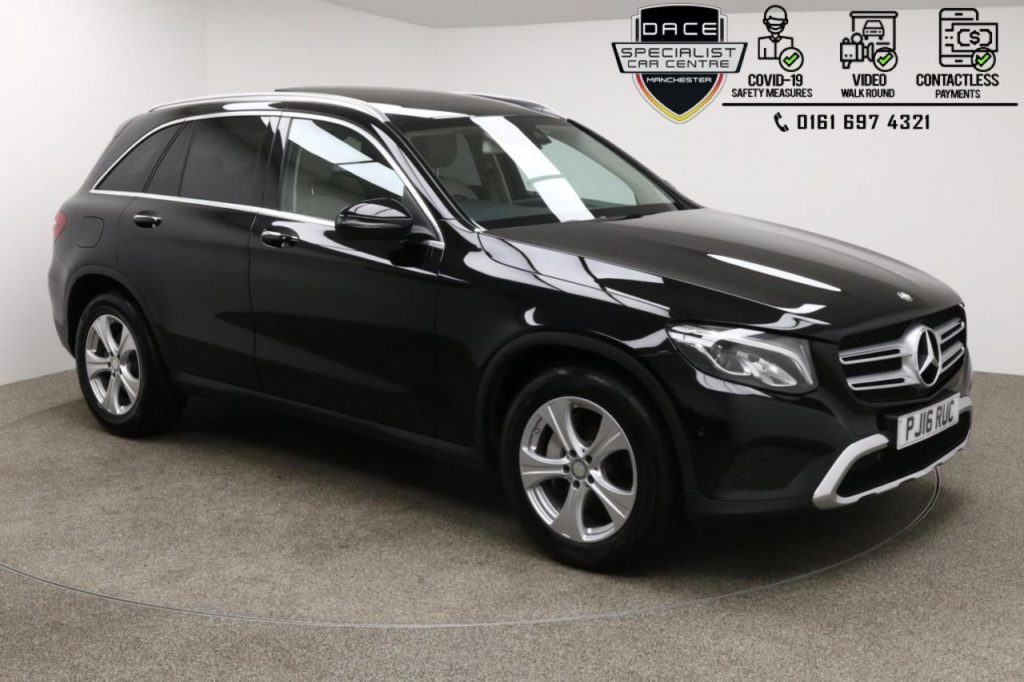 Used 2016 BLACK MERCEDES-BENZ GLC-CLASS Estate 2.1 GLC 220 D 4MATIC SPORT PREMIUM 5d AUTO 168 BHP (reg. 2016-06-28) for sale in Manchester