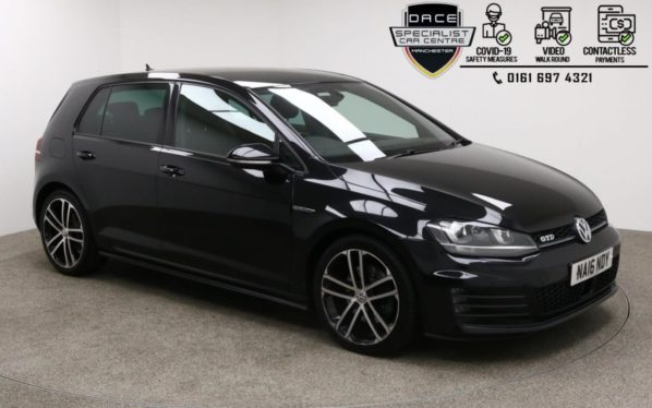 Used 2016 BLACK VOLKSWAGEN GOLF Hatchback 2.0 GTD 5d 181 BHP (reg. 2016-05-10) for sale in Manchester