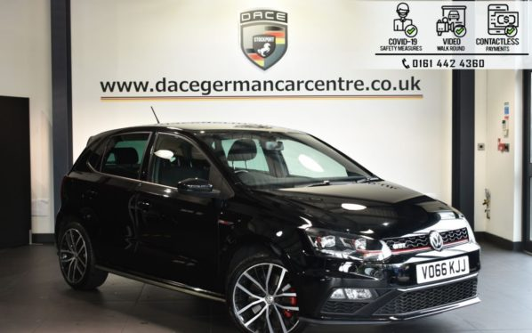 Used 2016 BLACK VOLKSWAGEN POLO Hatchback 1.8 GTI DSG 5DR 189 BHP (reg. 2016-09-13) for sale in Bolton