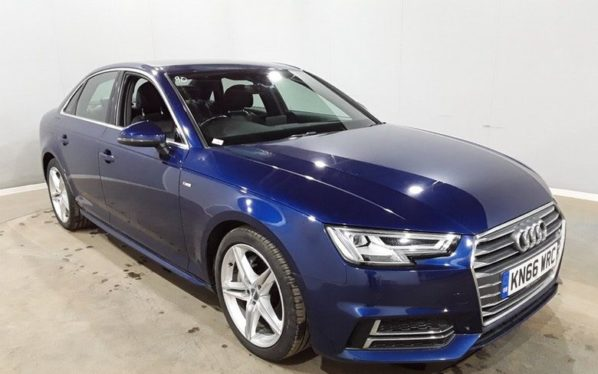 Used 2016 BLUE AUDI A4 Saloon 2.0 TDI S LINE 4d AUTO 188 BHP (reg. 2016-09-29) for sale in Manchester