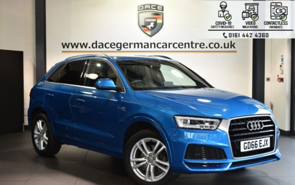 Used 2016 BLUE AUDI Q3 4x4 1.4 TFSI S LINE EDITION 5DR 148 BHP (reg. 2016-12-29) for sale in Bolton