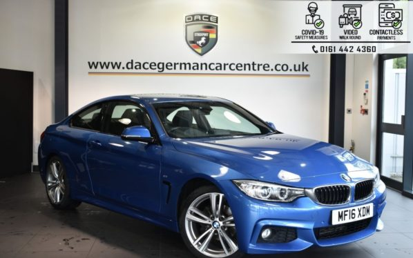 Used 2016 BLUE BMW 4 SERIES Coupe 2.0 420I M SPORT 2DR 181 BHP (reg. 2016-03-02) for sale in Bolton