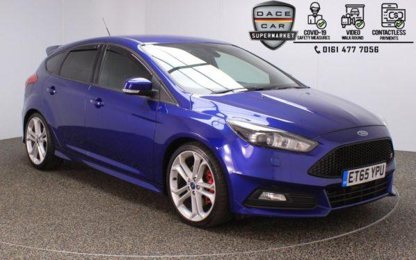 Used 2016 BLUE FORD FOCUS Hatchback 2.0 ST-3 5DR 247 BHP (reg. 2016-02-20) for sale in Stockport